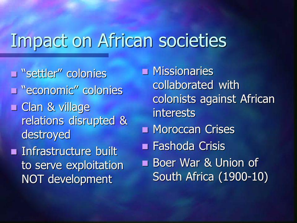 Impact on African societies