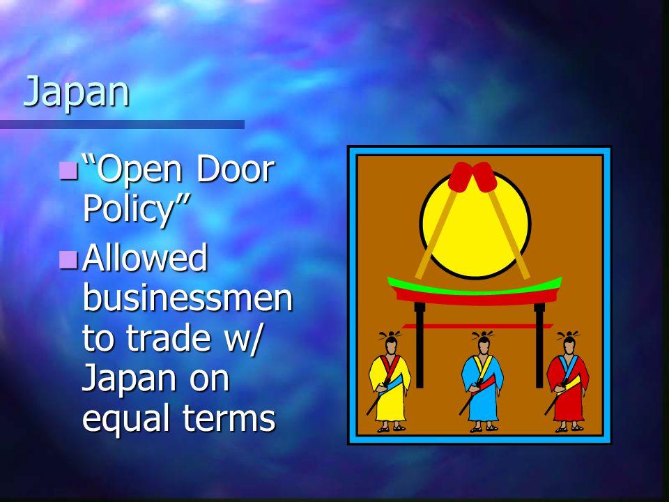 Japan Open Door Policy
