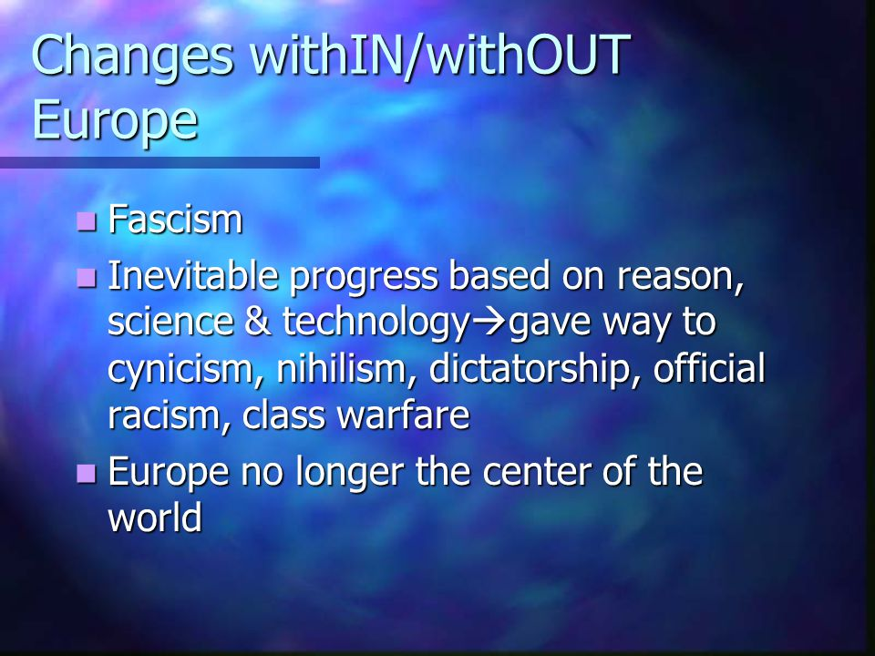 Changes withIN/withOUT Europe