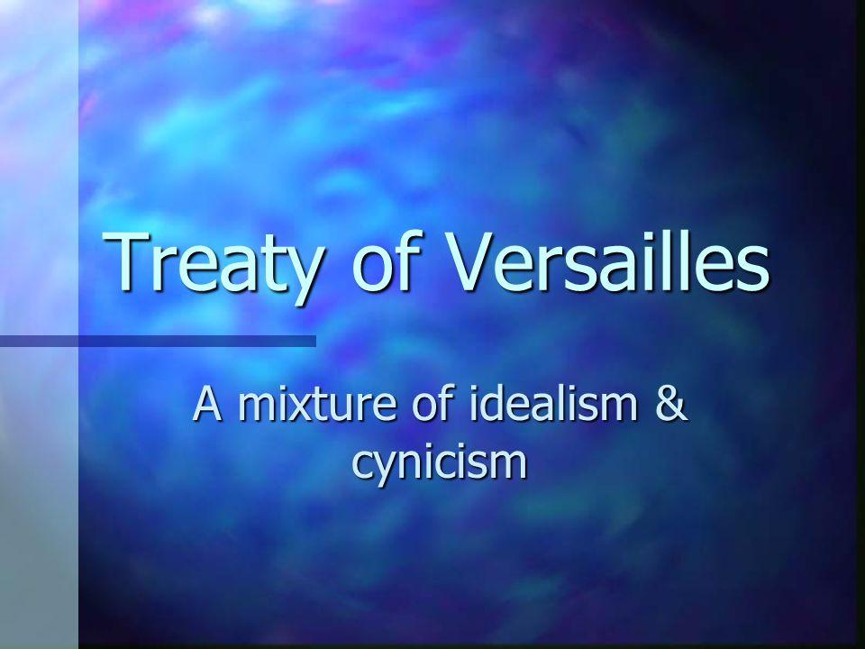 A mixture of idealism & cynicism