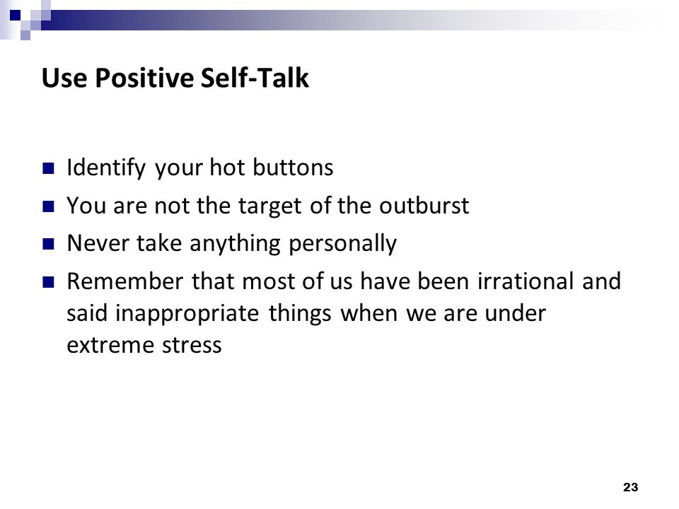 Use Positive Self-Talk