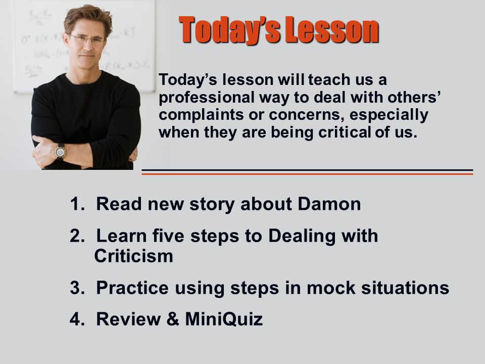 Today's Lesson 1. Read new story about Damon