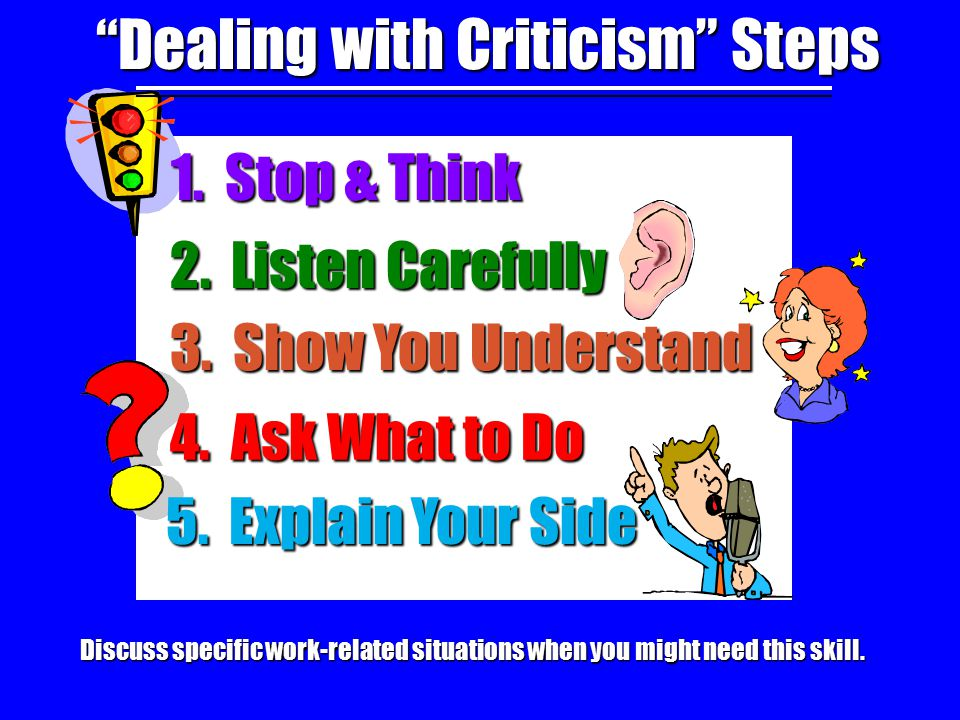 Dealing with Criticism Steps