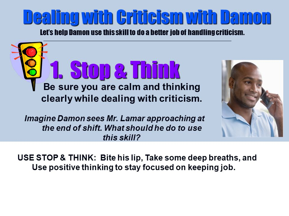 Dealing with Criticism with Damon