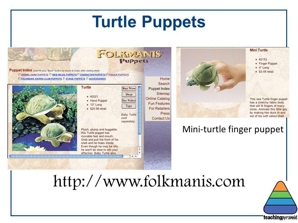 Mini-turtle finger puppet