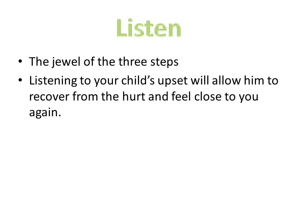Listen The jewel of the three steps