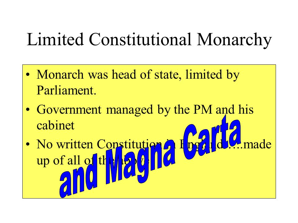Limited Constitutional Monarchy