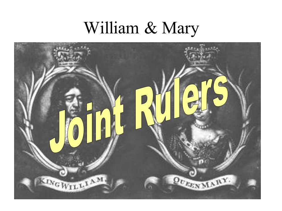 William & Mary Joint Rulers