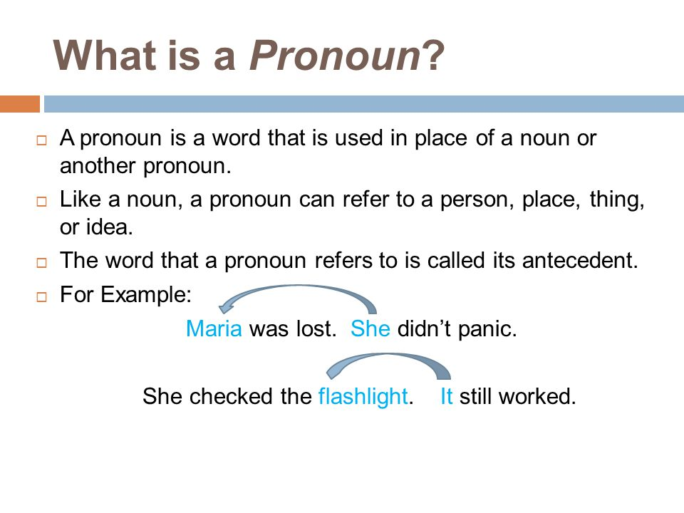 What is a Pronoun A pronoun is a word that is used in place of a noun or another pronoun.