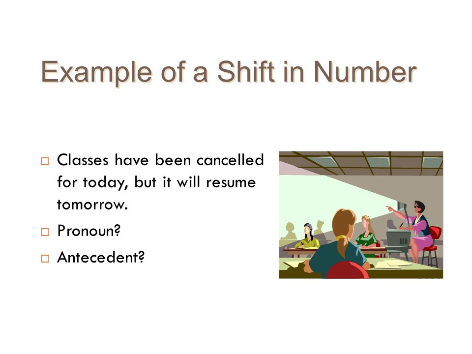 Example of a Shift in Number