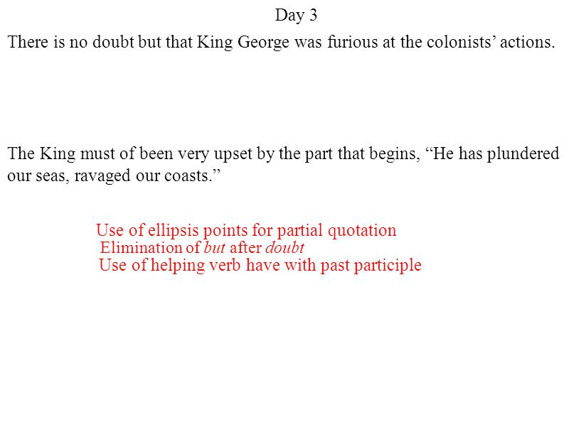 Use of ellipsis points for partial quotation