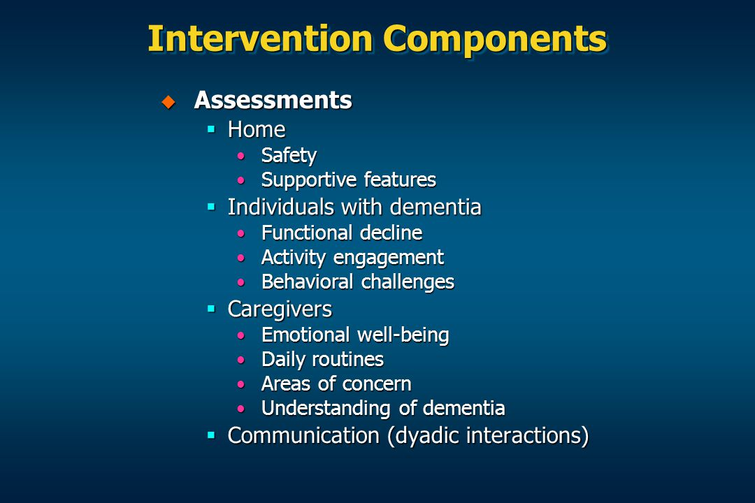 Intervention Components