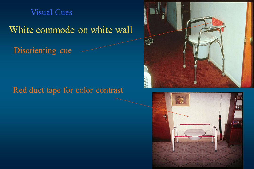 White commode on white wall