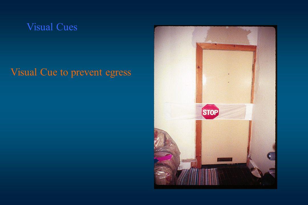 Visual Cues Visual Cue to prevent egress