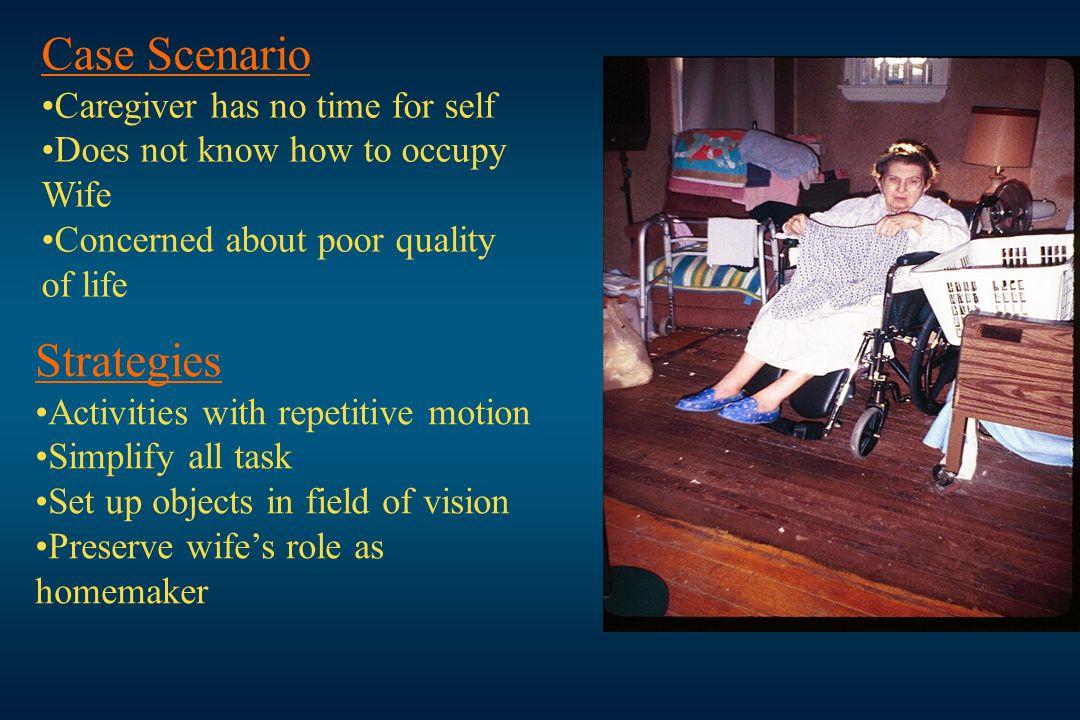 Case Scenario Strategies Caregiver has no time for self