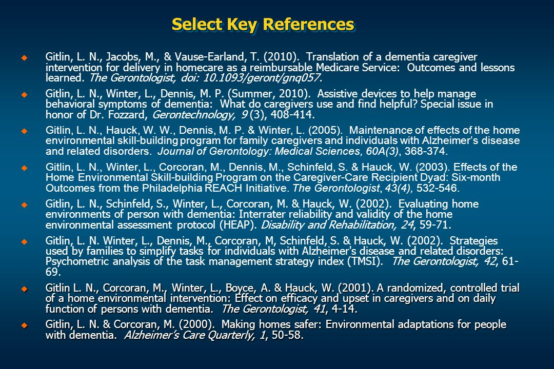 Select Key References