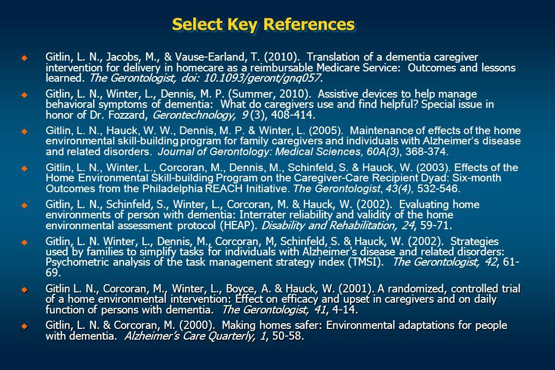 Select Key References