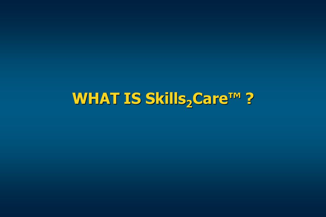 WHAT IS Skills2Care™