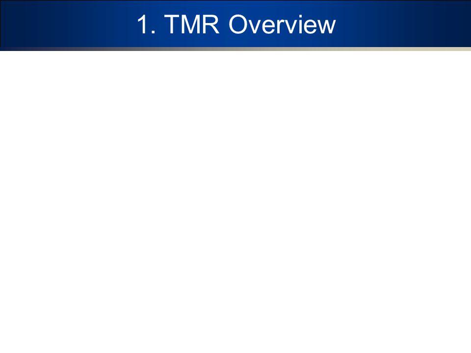1. TMR Overview