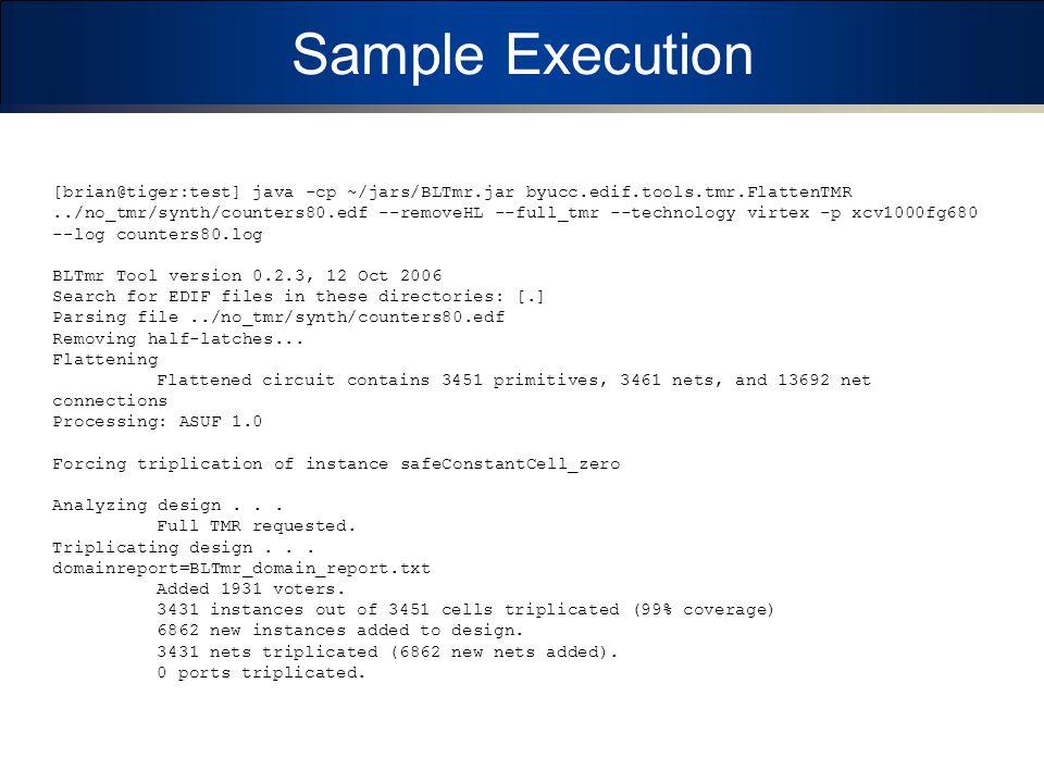 Sample Execution