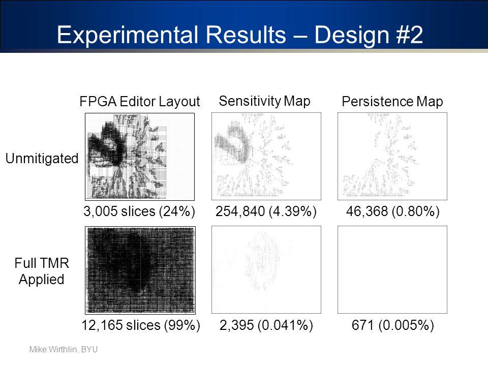 Experimental Results – Design #2 Synthetic (LFSR/Mult)
