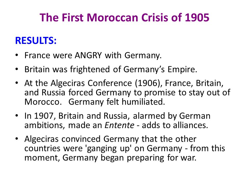 The First Moroccan Crisis of 1905