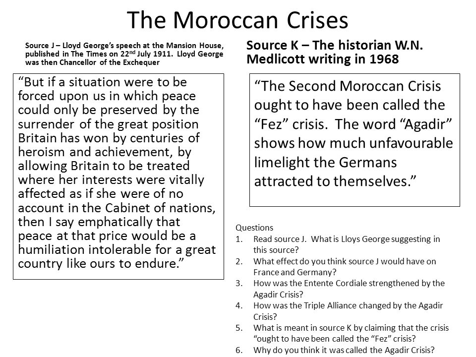 The Moroccan Crises