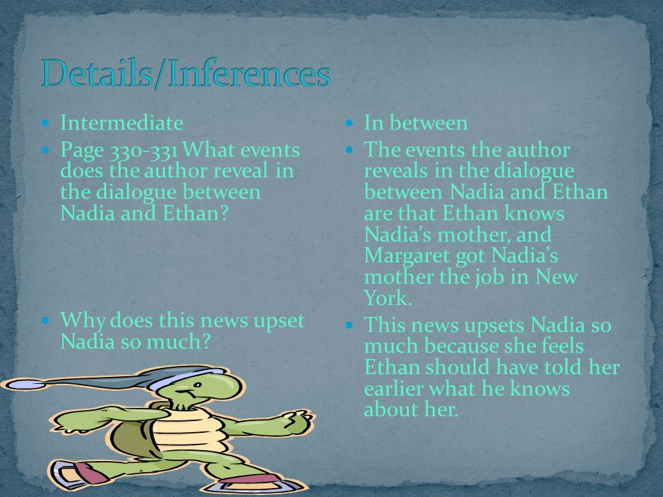 Details/Inferences Intermediate