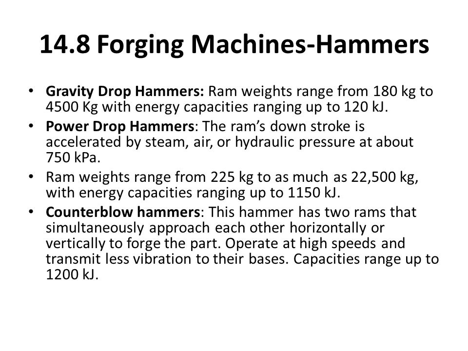 14.8 Forging Machines-Hammers