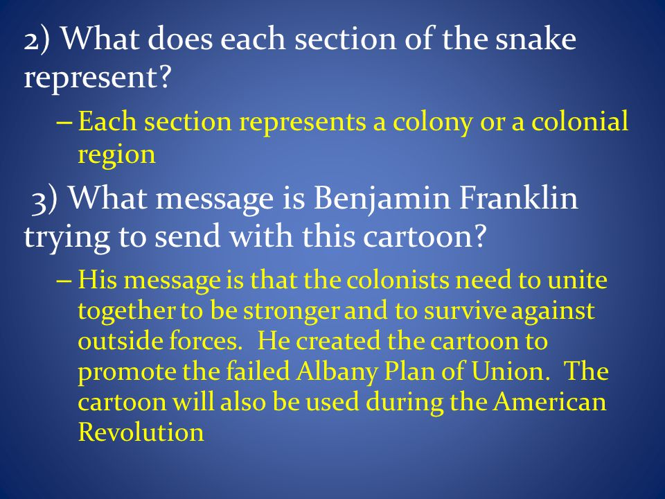 2) What does each section of the snake represent