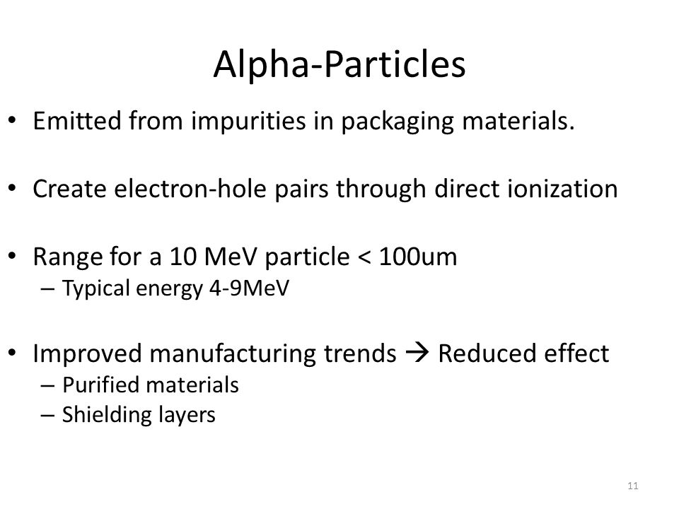 Alpha-Particles Emitted from impurities in packaging materials.
