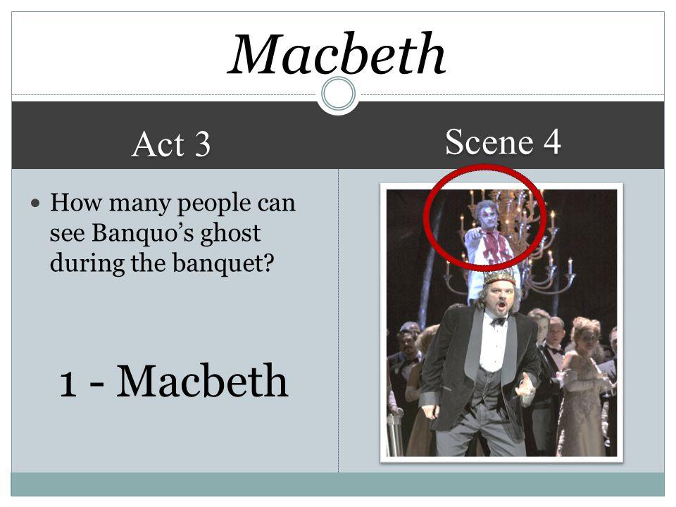 Macbeth 1 - Macbeth Scene 4 Act 3
