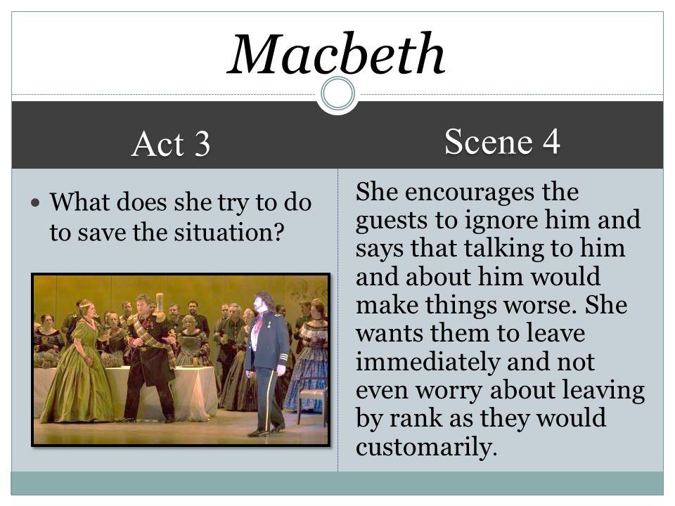 Macbeth Scene 4. Act 3.