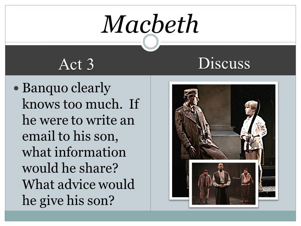 Macbeth Discuss. Act 3.