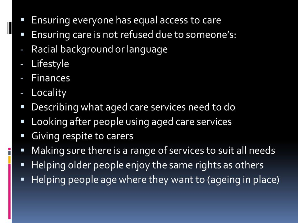 Ensuring everyone has equal access to care