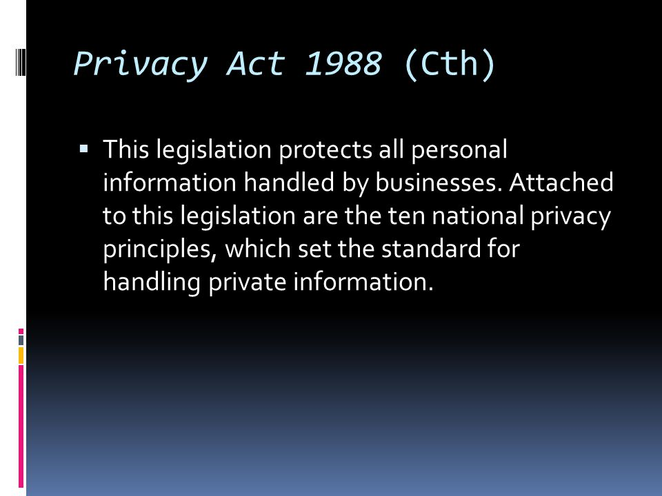 Privacy Act 1988 (Cth)