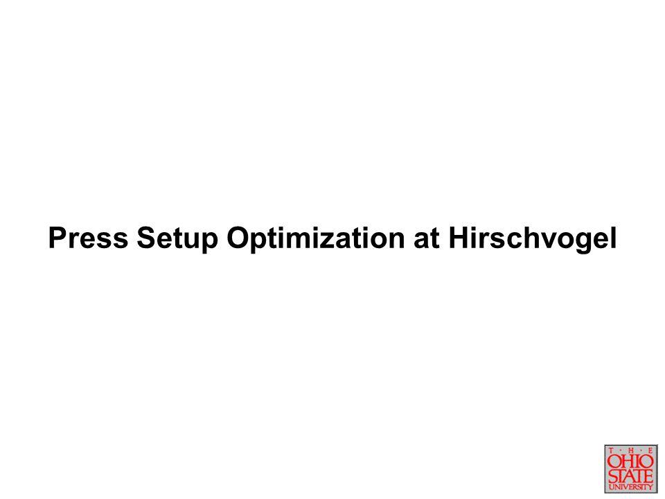 Press Setup Optimization at Hirschvogel