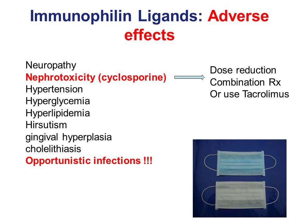 Immunophilin Ligands: Adverse effects