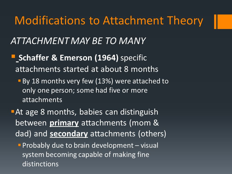 Modifications to Attachment Theory
