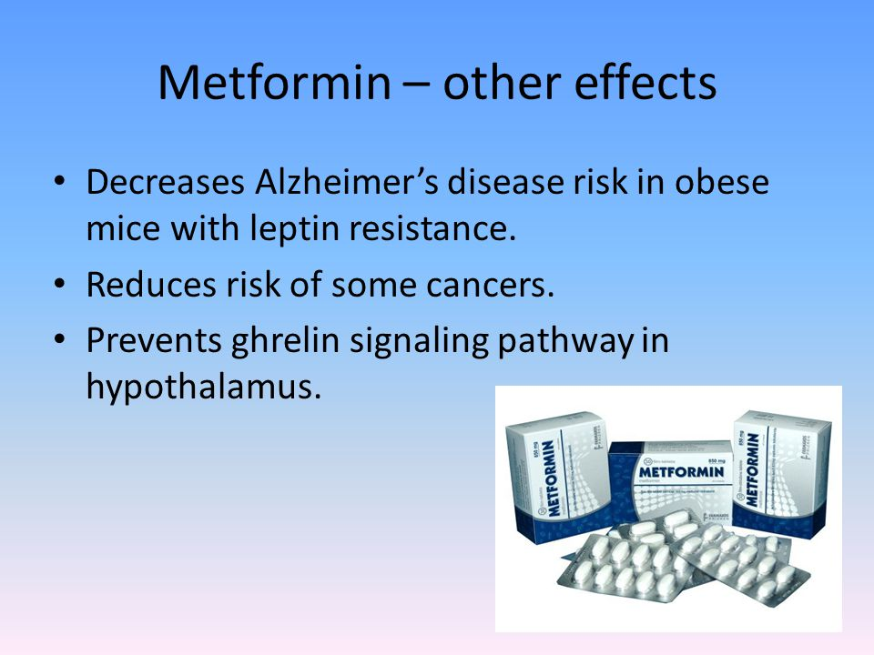 Metformin – other effects