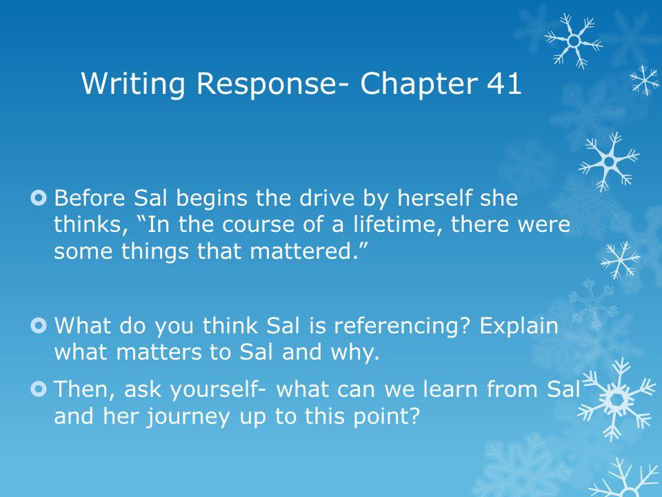 Writing Response- Chapter 41