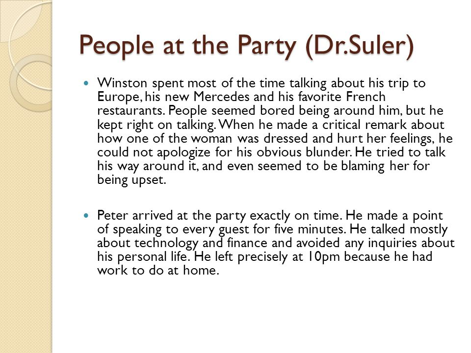 People at the Party (Dr.Suler)
