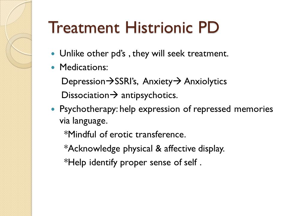Treatment Histrionic PD
