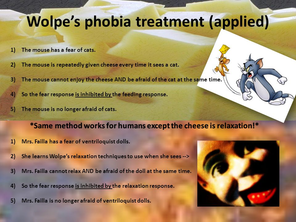 Wolpe's phobia treatment (applied)