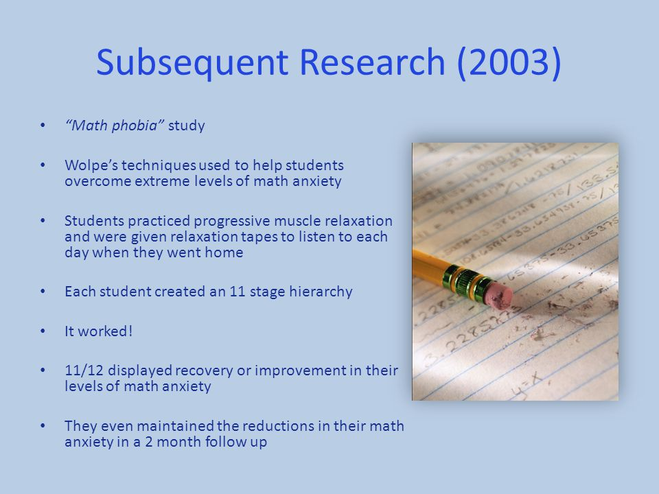 Subsequent Research (2003)