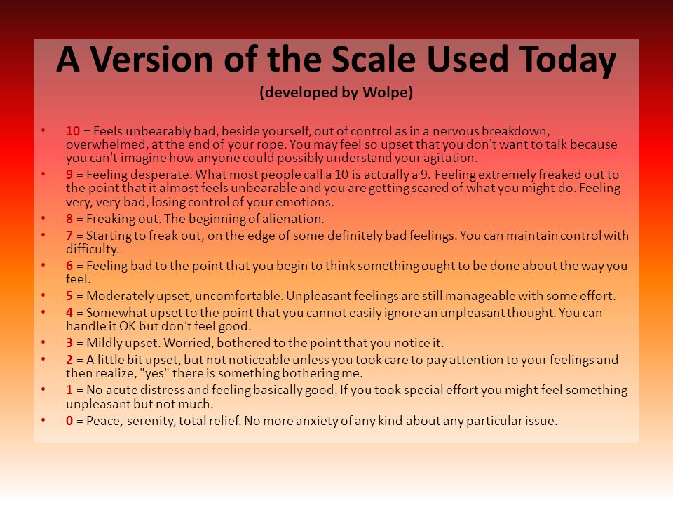 A Version of the Scale Used Today