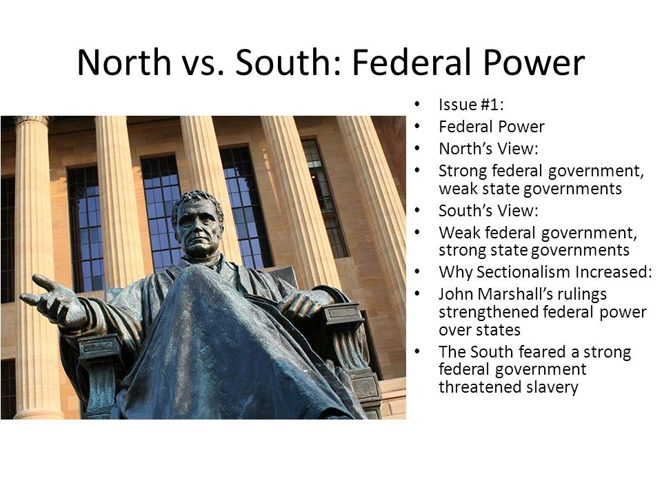 North vs. South: Federal Power
