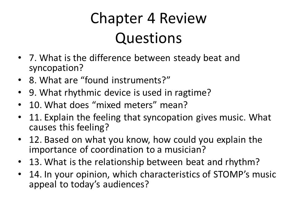 Chapter 4 Review Questions