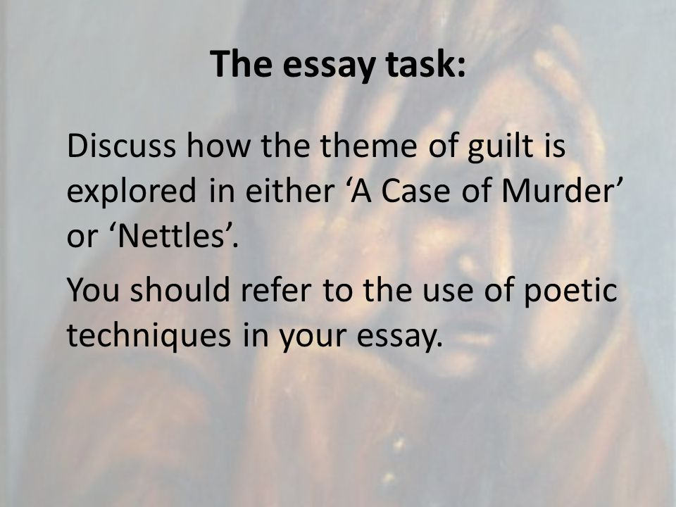 The essay task: