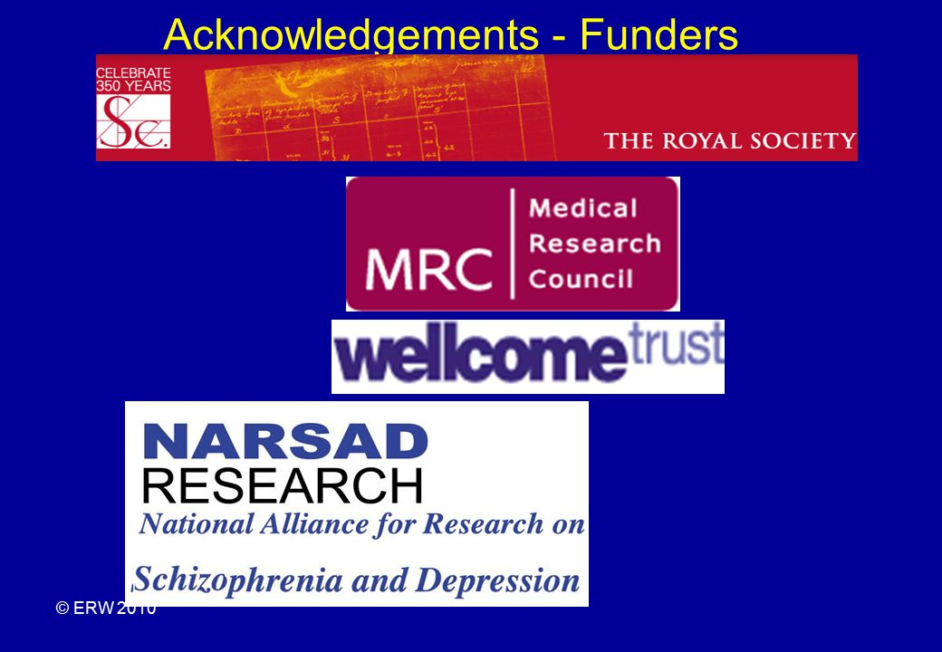 Acknowledgements - Funders